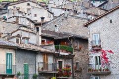 Scorcio di scanno Italien Arkivbild