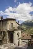Scorcio di Scanno, Italien Arkivfoto