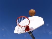 Score. Basketball and hoop in the park Royalty Free Stock Photo