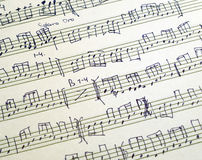 Score. Musical score for winds and strings instruments Stock Photography