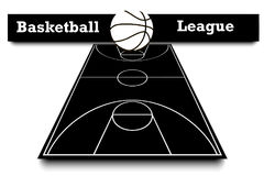 Score of the basketball match Stock Images