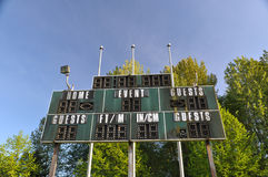 Score board Stock Image