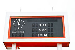 Score board. The black, white and orange score board Royalty Free Stock Images