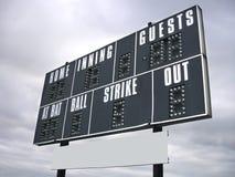 Score board Royalty Free Stock Photo