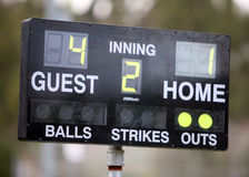 Score board Stock Photography
