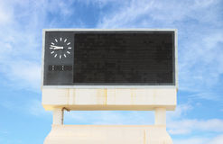 Score board at football stadium. With bluesky Royalty Free Stock Photo