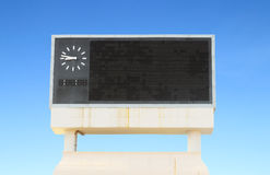 Score board at football stadium Royalty Free Stock Photo