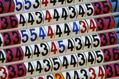 Score Board Of Golf Tournament. Close up on score board of golf tournament Stock Images