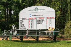 Score Board for ProAm at the Memorial Stock Photo