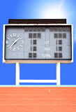 Score board with Running lane Royalty Free Stock Images