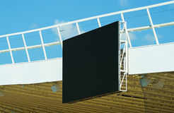 Score board of the stadium. Score board of the soccer stadium Stock Image