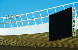 Score board of the stadium. Score board of the soccer stadium Stock Images