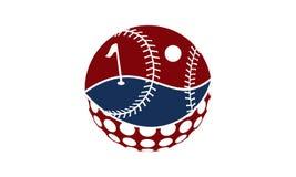 Score de golf et de base-ball Images stock