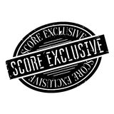 Score Exclusive rubber stamp. Grunge design with dust scratches. Effects can be easily removed for a clean, crisp look. Color is easily changed Stock Image