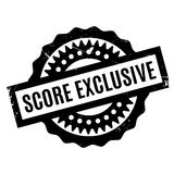 Score Exclusive rubber stamp. Grunge design with dust scratches. Effects can be easily removed for a clean, crisp look. Color is easily changed Stock Photos