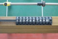 Score of football table. Stock Photo