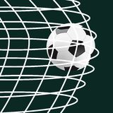 Score a goal. Illustration of a soccer ball going on goal Stock Photos