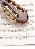 Score for guitar Stock Photos