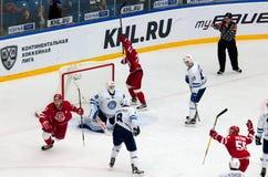 Score in het team van Dynamominsk Stock Afbeelding