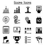Score icons Royalty Free Stock Image