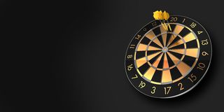 A score of 180 points with three darts in triple twenty stock photo
