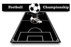 Score van de voetbalwedstrijd royalty-vrije illustratie