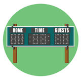 Scoreboard. Illustration of a green sporting event scoreboard Royalty Free Stock Images