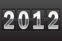 Scoreboard. New Year's date. Set of numbers on a mechanical timetable royalty free illustration