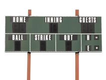 Scoreboard Royalty Free Stock Photos