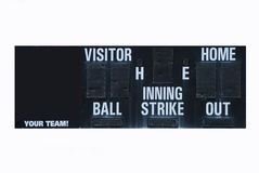 Scoreboard. Isolated Baseball scoreboard with an area to add your team name Royalty Free Stock Photos