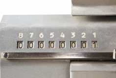Scoreboard adding machine Royalty Free Stock Images