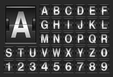 Scoreboard alphabet. Scoreboard full english alphabet and numbers Royalty Free Stock Photos