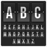 Scoreboard with alphabet. Scoreboard mechanical and electronic letters alphabet Stock Images