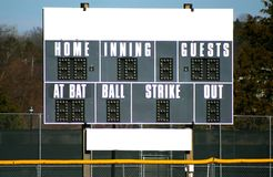 Scoreboard for Baseball Royalty Free Stock Photos