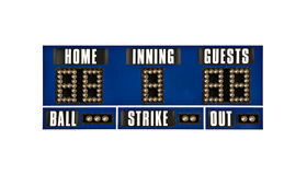 Scoreboard baseball isolated Royalty Free Stock Image