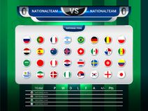 Scoreboard Broadcast and Lower Thirds Template for world soccer tournament championship Stock Images