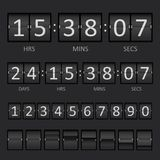 Scoreboard Countdown Timer. Vector Countdown Timer and Scoreboard Numbers Stock Photos