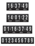 Scoreboard countdown timer  illustration Stock Photo