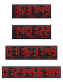 Scoreboard digital countdown timer  illustration Stock Photography