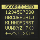 Scoreboard digital font Stock Photo
