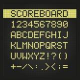 Scoreboard digital font Stock Photo