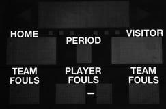 Scoreboard electronic Stock Images