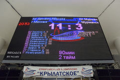 Scoreboard with final score Royalty Free Stock Photography