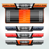 Scoreboard football soccer. Scoreboard sport template for football and soccer, vector illustration Royalty Free Stock Photos