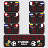 Scoreboard Football Tournament royalty free illustration