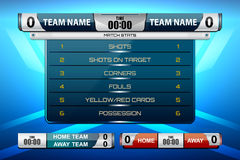 Scoreboard game design. Scoreboard game for football and soccer, vector illustration Royalty Free Stock Photo