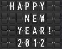 Scoreboard Happy New Year Royalty Free Stock Photography