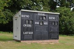 Scoreboard hut Royalty Free Stock Images