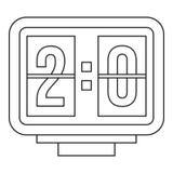 Scoreboard icon, outline style Royalty Free Stock Photos