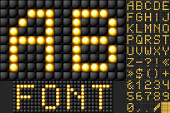 Scoreboard lamp alphabet Stock Photography